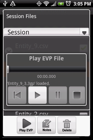 Play EVPs on the Entity Sensor Pro